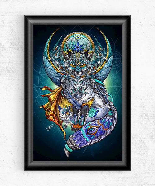 The Blue Fox of Life Posters by Juan Manuel Orozco - Pixel Empire