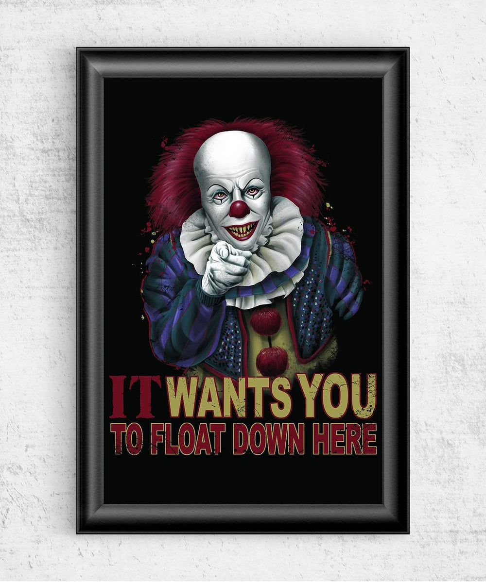 Float Down Here Posters by Saqman - Pixel Empire