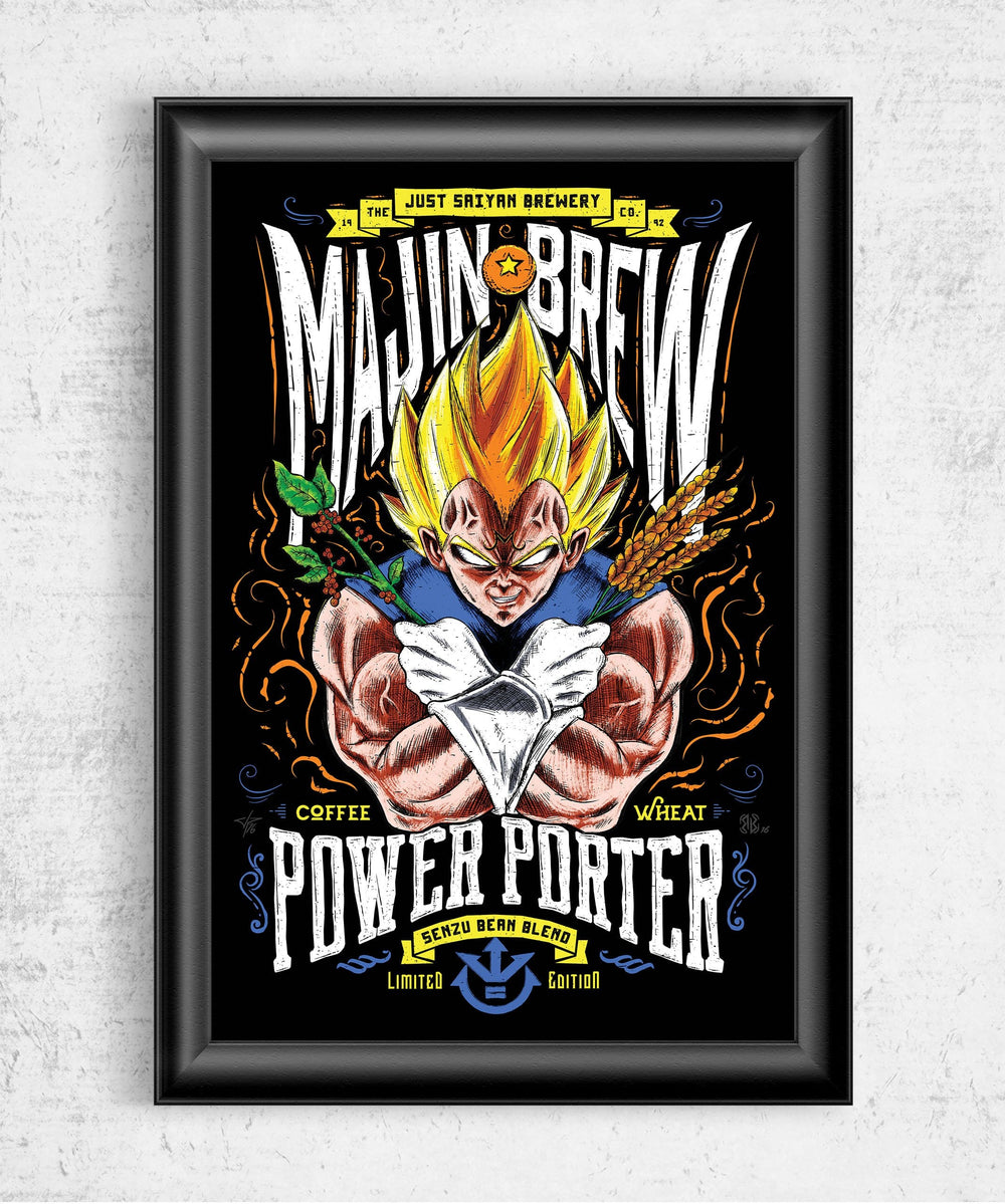Majin Brew Posters by Barrett Biggers - Pixel Empire