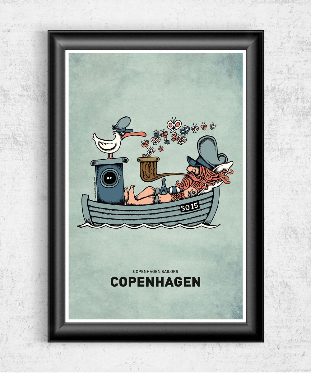 Butterfly Ship Posters by Copenhagen Poster - Pixel Empire