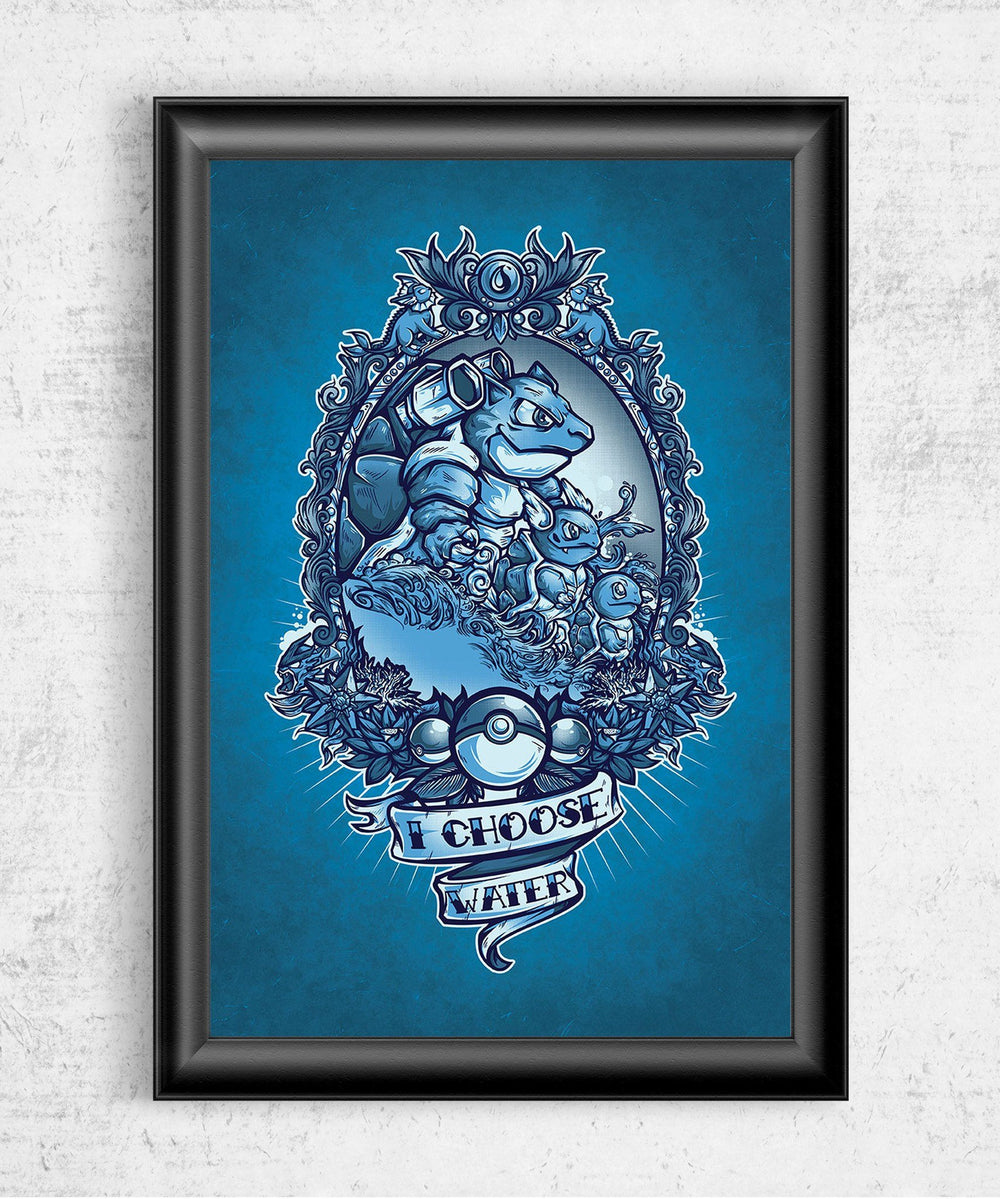 I Choose Water Posters by Juan Manuel Orozco - Pixel Empire