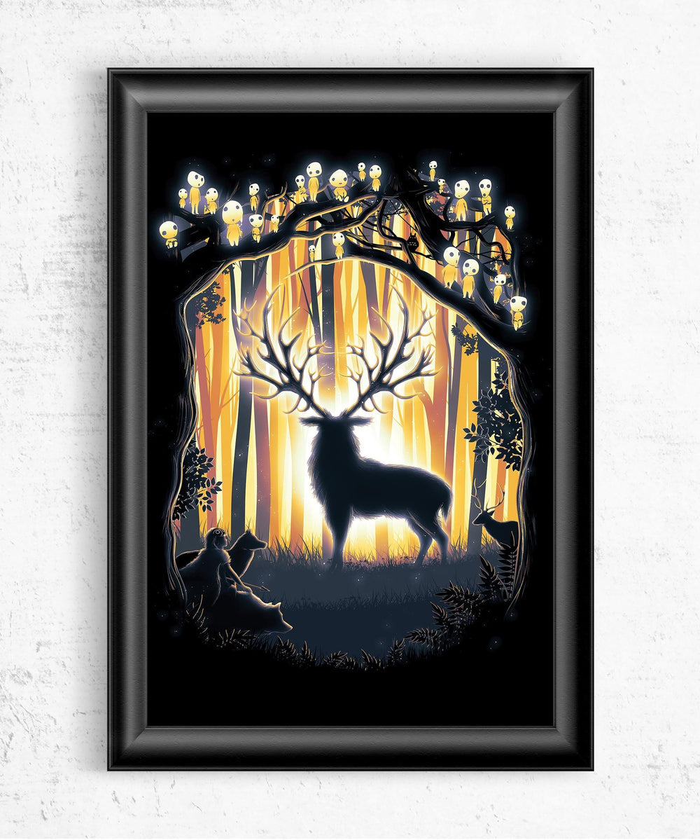 Deer God Save Our Forest Posters by Barrett Biggers - Pixel Empire