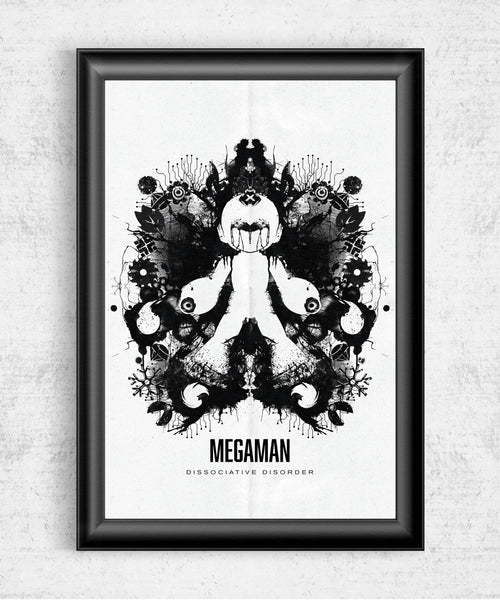 Megaman Ink Blot Posters by Barrett Biggers - Pixel Empire