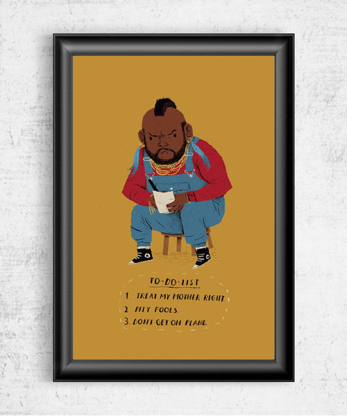 Mr T To Do List Posters by Louis Roskosch - Pixel Empire