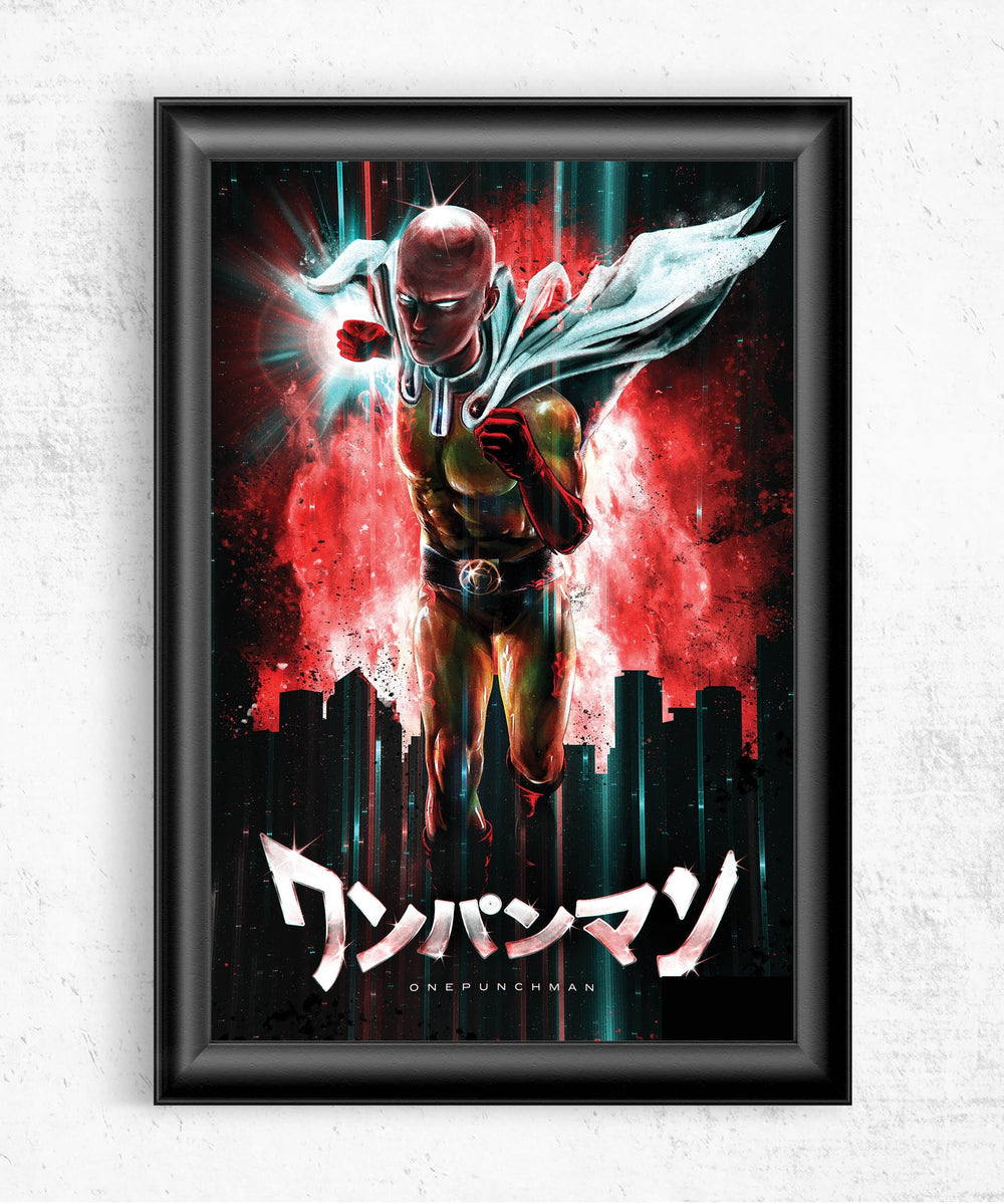 One Punch Man Posters by Barrett Biggers - Pixel Empire
