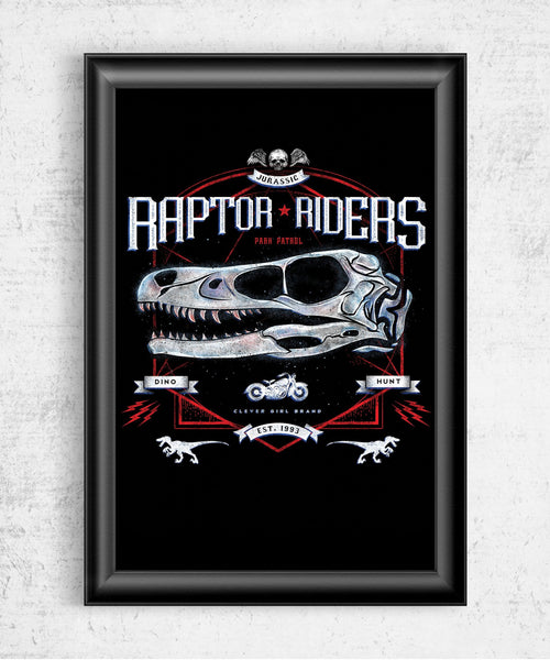 Raptor Riders Posters by Barrett Biggers - Pixel Empire