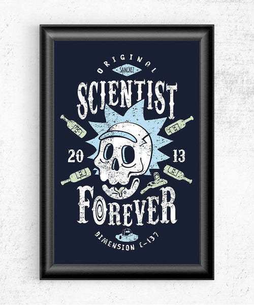 Scientist Forever Posters by Olipop - Pixel Empire