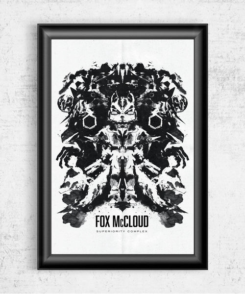 Starfox Inkblot Posters by Barrett Biggers - Pixel Empire