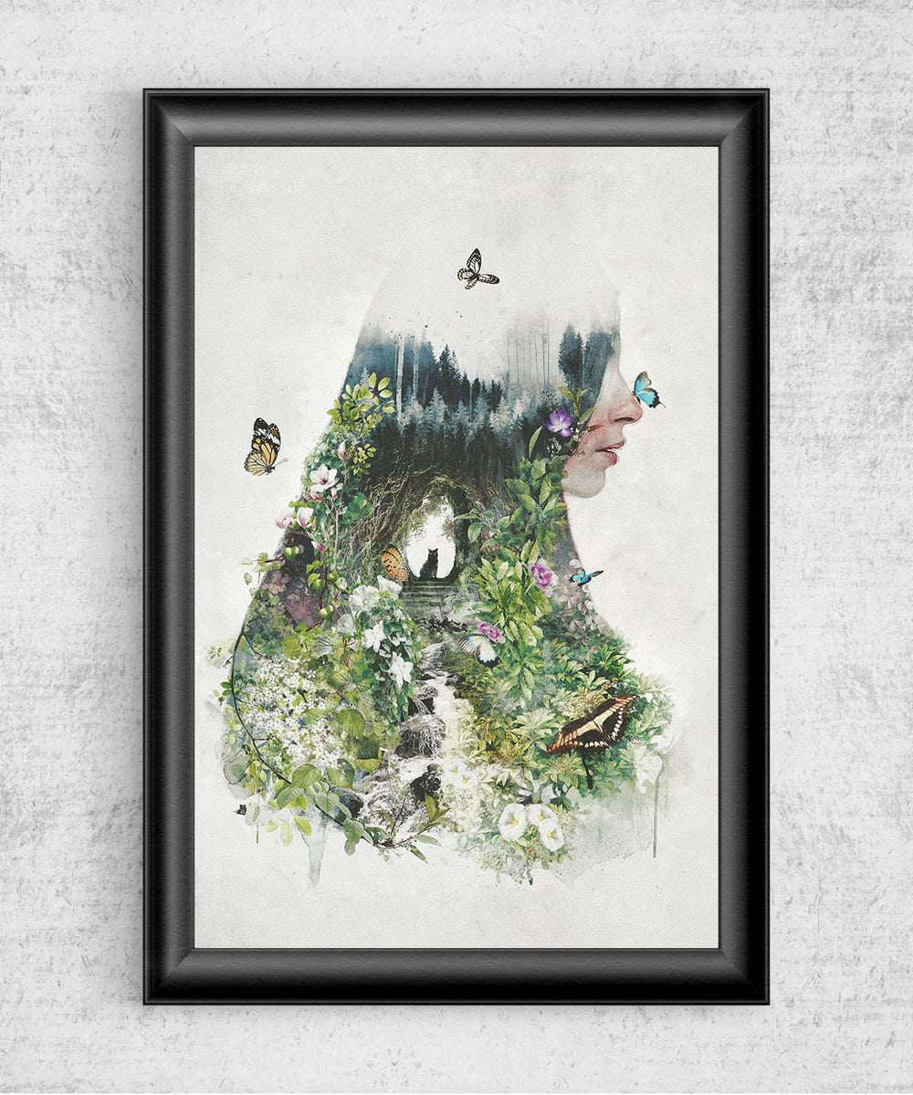 Cat in the Garden Posters by Barrett Biggers - Pixel Empire