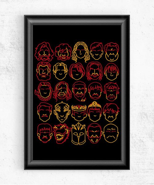 Game of Profiles Posters by COD Designs - Pixel Empire