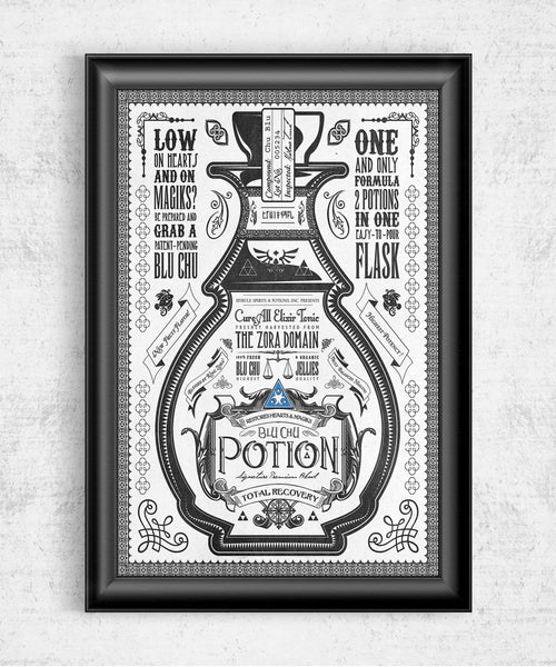 Blue Potion Posters by Barrett Biggers - Pixel Empire