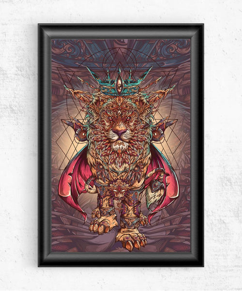 Lion of Dreams Posters by Juan Manuel Orozco - Pixel Empire