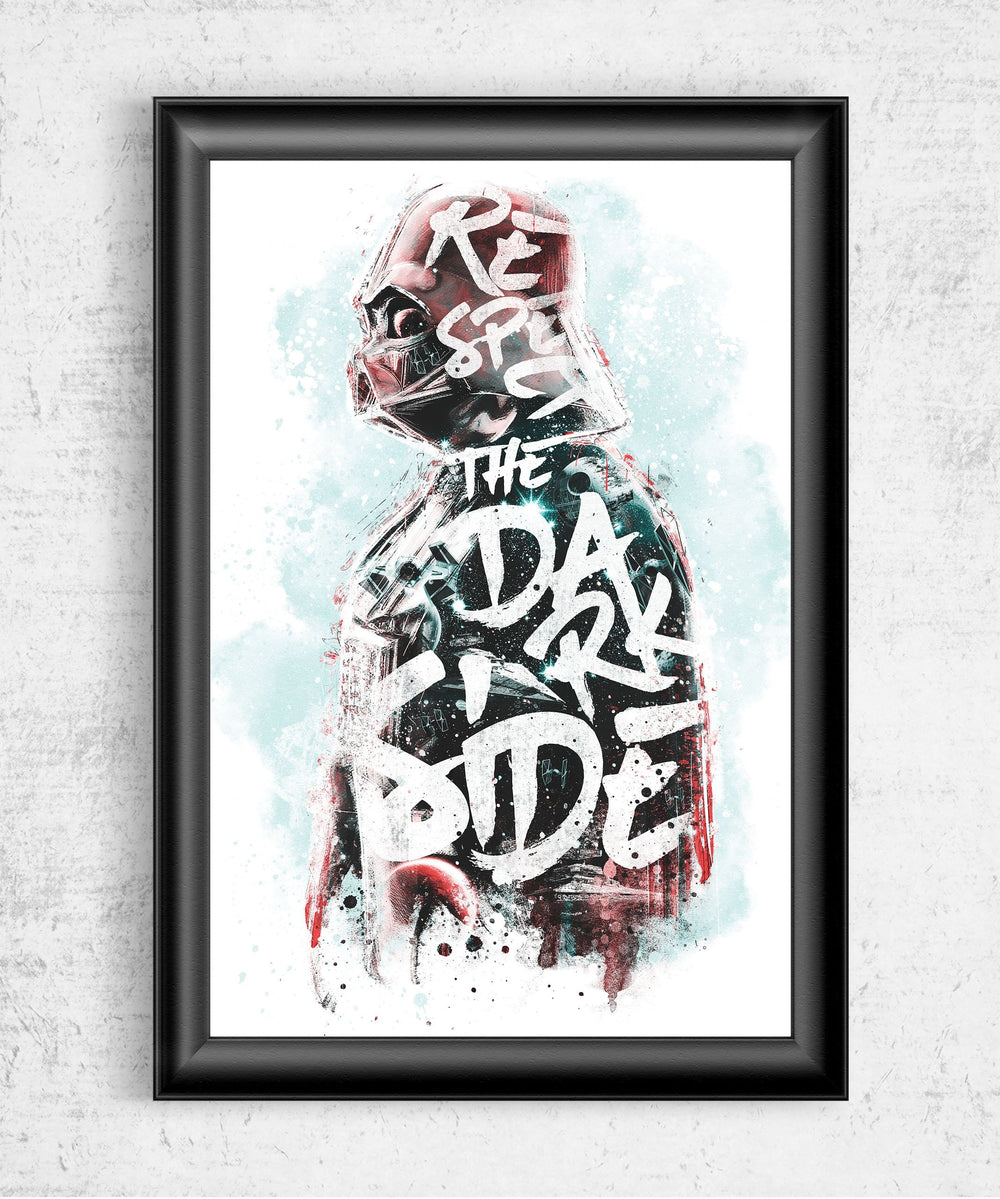 Respect the Dark Side Posters by Barrett Biggers - Pixel Empire