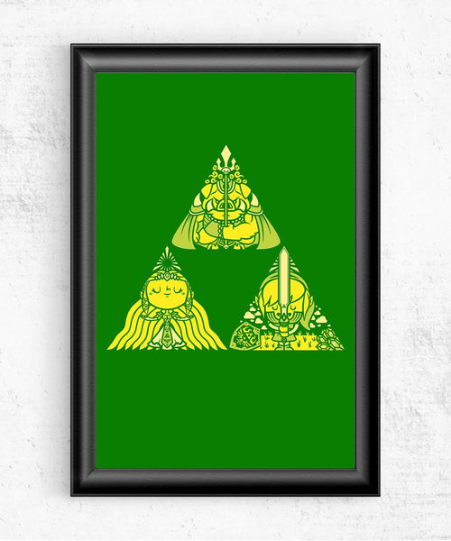 Triforce Posters by COD Designs - Pixel Empire