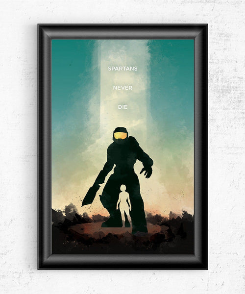 Halo - Spartans Never Die Posters by The Pixel Empire - Pixel Empire