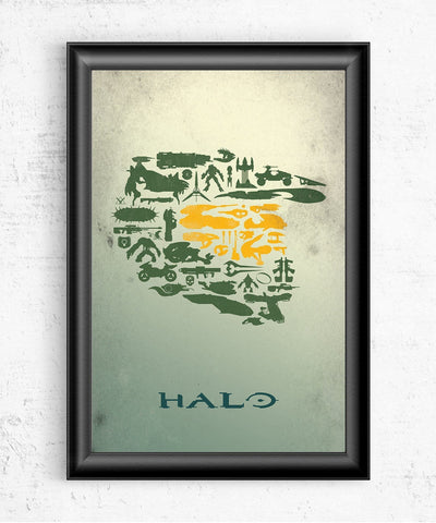 Halo Collage Posters- The Pixel Empire