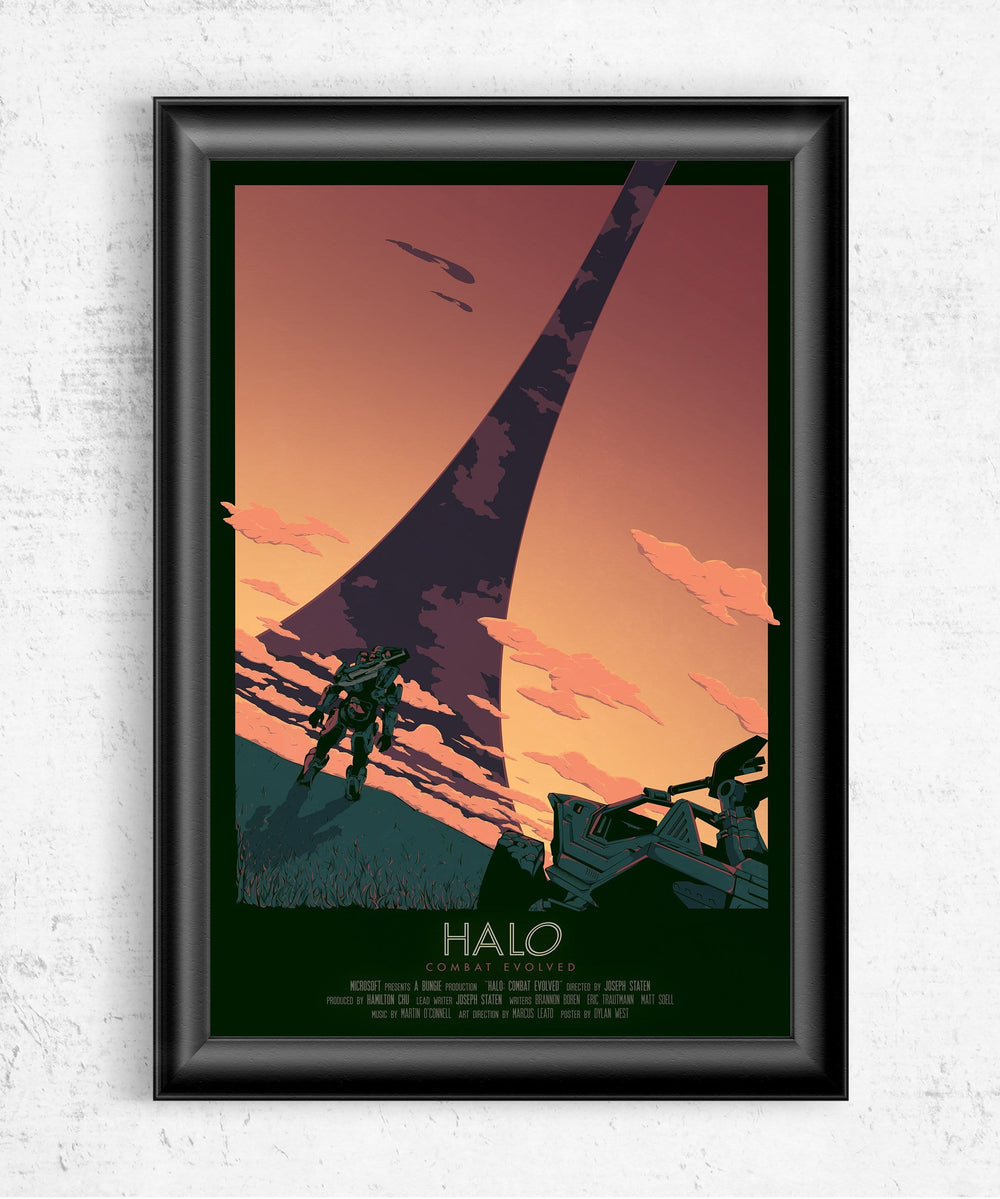 Halo: Combat Evolved Movie Poster - Sunset Variation Posters by Dylan West - Pixel Empire