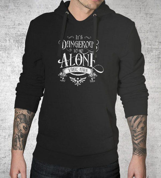 Dangerous to Go Alone Hoodies by Barrett Biggers - Pixel Empire