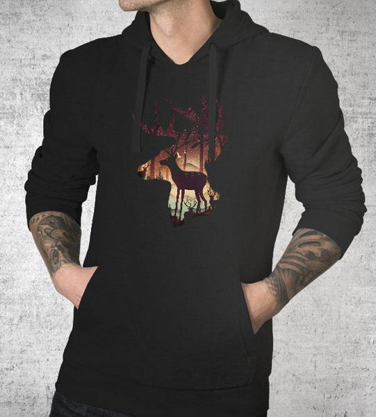 Deer Forest Hoodies by Dan Elijah Fajardo - Pixel Empire