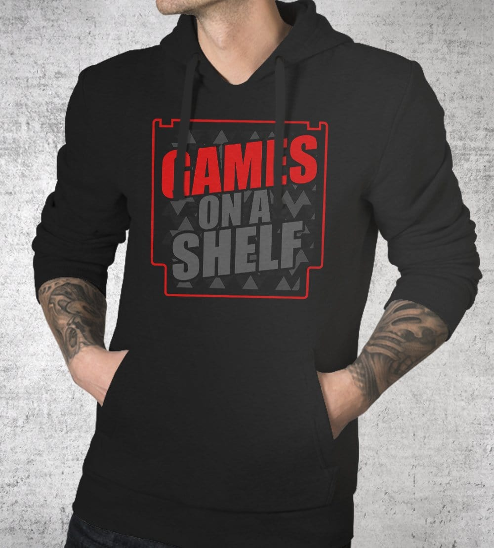 Games On A Shelf 2020 Hoodies by Scott The Woz - Pixel Empire