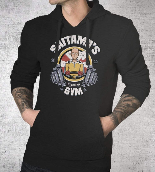 Saitama's Gym Hoodies by Typhoonic - Pixel Empire