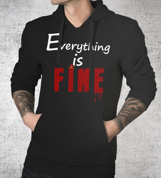 Everything Is Fine Hoodies by Tear of Grace - Pixel Empire