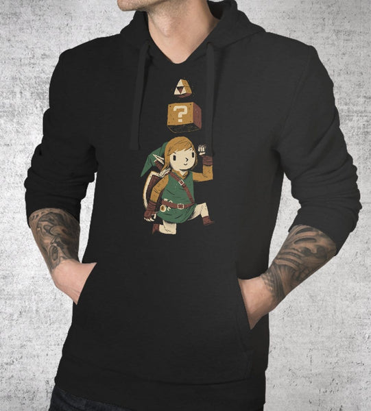 Triforce Power Up Hoodies by Louis Roskosch - Pixel Empire