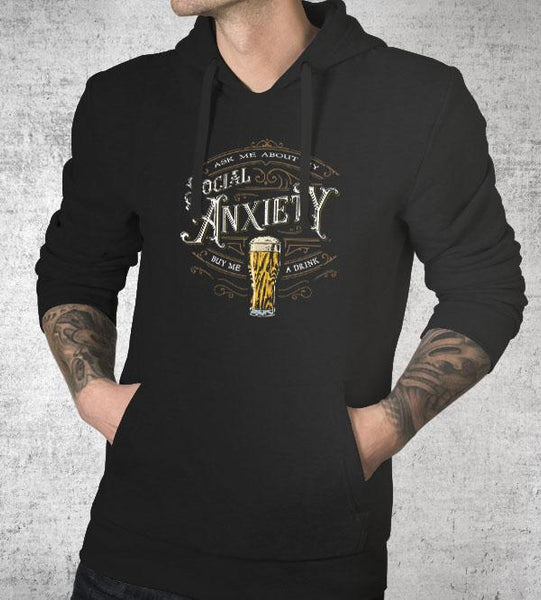 Social Anxiety Hoodies by Barrett Biggers - Pixel Empire