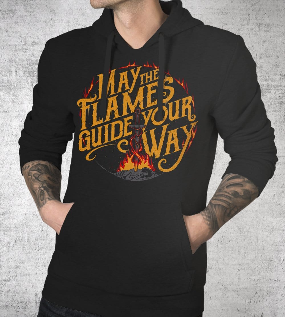 The Flames Guide Me Hoodies by Studiom6 - Pixel Empire