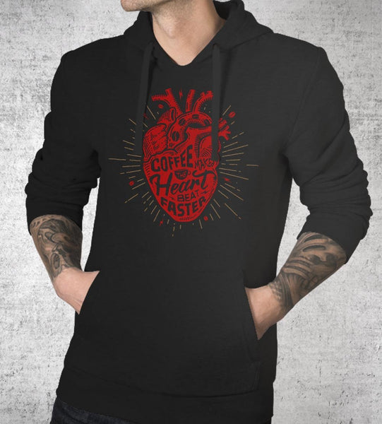 Coffee Makes the Heart Beat Faster Hoodies by Barrett Biggers - Pixel Empire