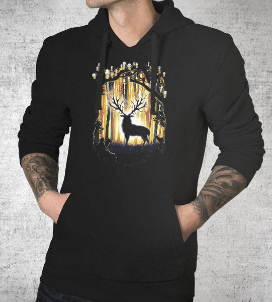 Deer God Save Our Forest Hoodies by Barrett Biggers - Pixel Empire