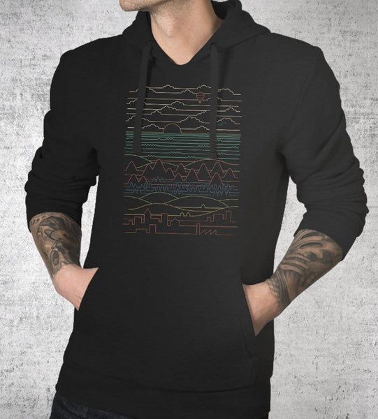 Linear Landscape Hoodies by Rick Crane - Pixel Empire