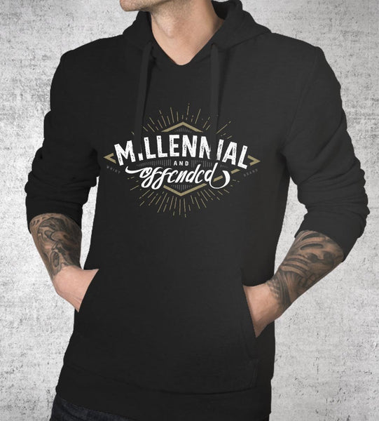 Millennial and Offended Hoodies by Barrett Biggers - Pixel Empire