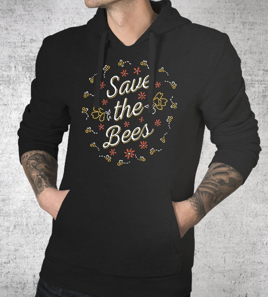 Save The Bees Hoodies by Ronan Lynam - Pixel Empire