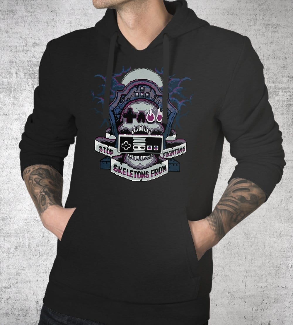 8-Bit SSFF Hoodies by Stop Skeletons From Fighting - Pixel Empire