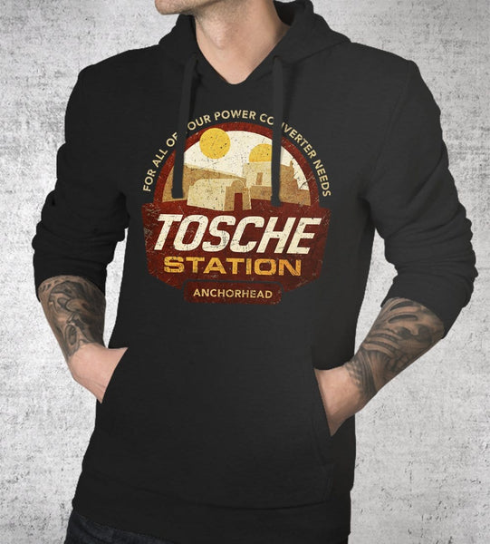 Tosche Station Hoodies by Cory Freeman Design - Pixel Empire