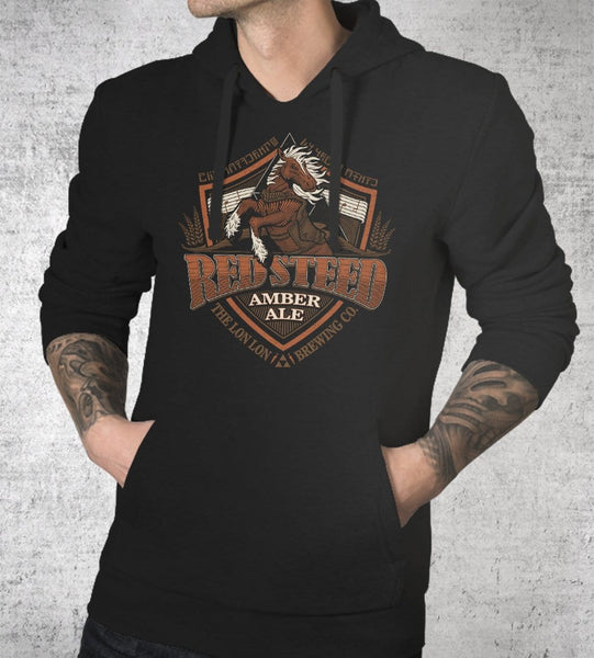 Red Steed Ale Hoodies by Cory Freeman Design - Pixel Empire