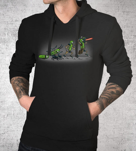 Pickle Evolution Hoodies by COD Designs - Pixel Empire