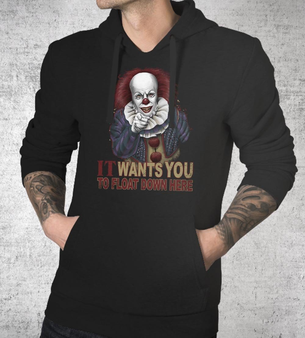 Float Down Here Hoodies by Saqman - Pixel Empire