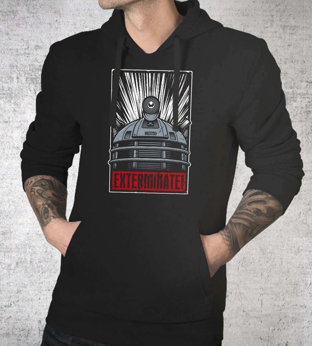 Exterminate! Hoodies by Studiom6 - Pixel Empire