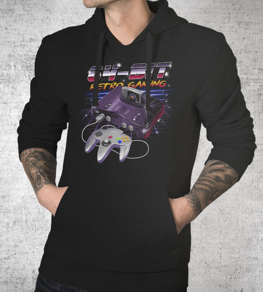 64-Bit Retro Gaming Hoodies by Vincent Trinidad - Pixel Empire