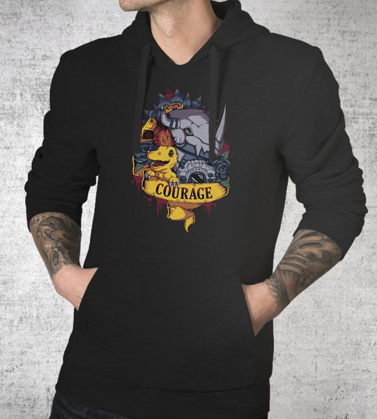 Courage Power Hoodies by Typhoonic - Pixel Empire
