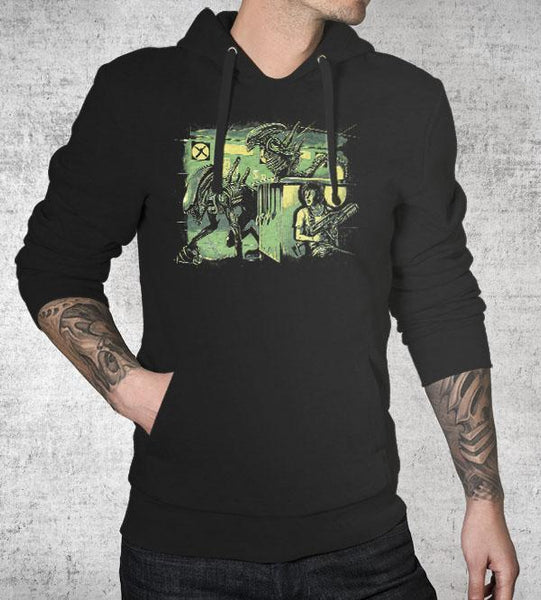 Jurassic Xenomorphs Hoodies by Barrett Biggers - Pixel Empire