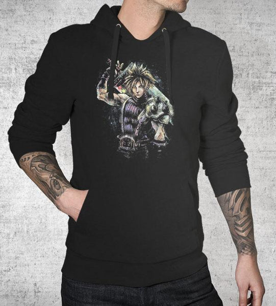 Cloud Strife Hoodies by Barrett Biggers - Pixel Empire