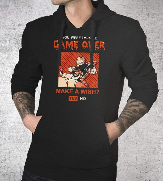 Game Over Krillin Hoodies by Cod Designs - Pixel Empire