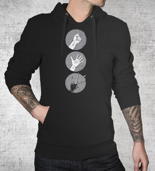 Rock Paper Scissors Hoodies by Grant Shepley - Pixel Empire