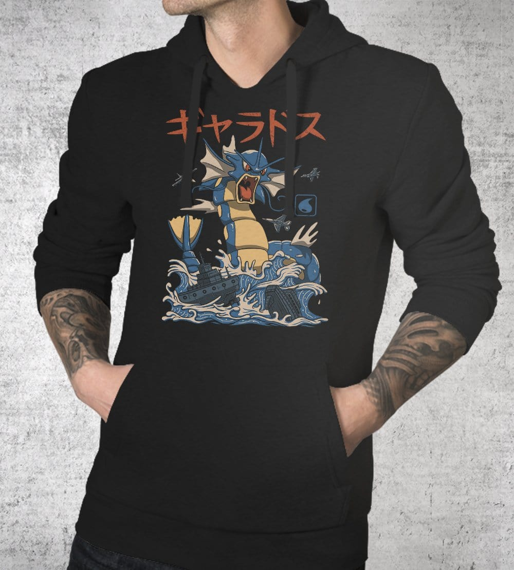 Flying Water Kaiju Hoodies by Vincent Trinidad - Pixel Empire
