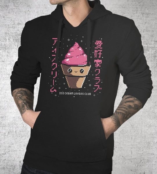 Ice Cream Lovers Club Hoodies by Ilustrata - Pixel Empire