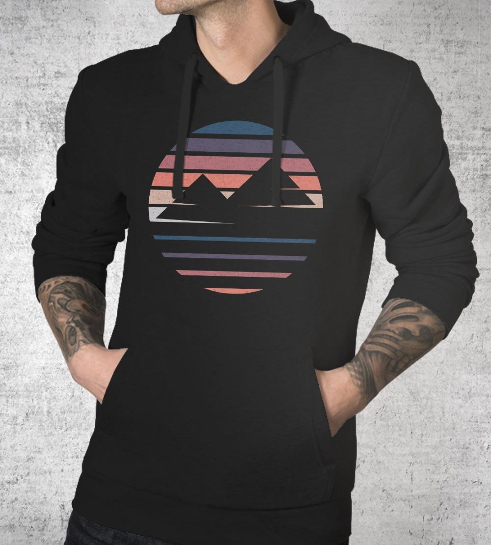 Foggy Mountains Hoodies by Daniel Teres - Pixel Empire