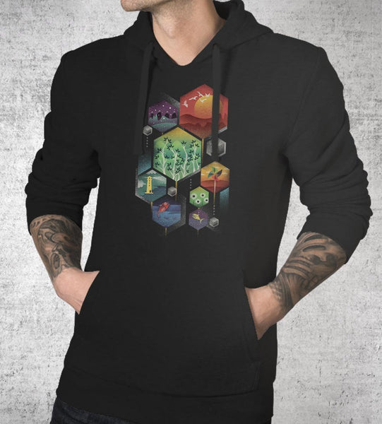 Geometrical Hoodies by Dan Elijah Fajardo - Pixel Empire